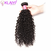 KLAIYI Hair Brazilian Curly Hair 100% Human Remy Hair Weaving Natural Color Hair Extensions Double Weft 8 26 Inches 1 Piece