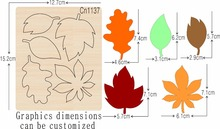 Leaf  1 new wooden mould cutting dies for scrapbooking Thickness 15.8mm