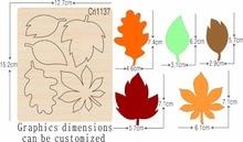Leaf 1 nouvelles matrices de découpe de moules en bois pour scrapbooking Thickness 15.8mm