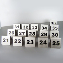 Number 1-100 Stainless Steel Table Numbers Cards 2 Colors Small Table Sign Card Restaurant Hotel Cafe Bar Tools ZA5575