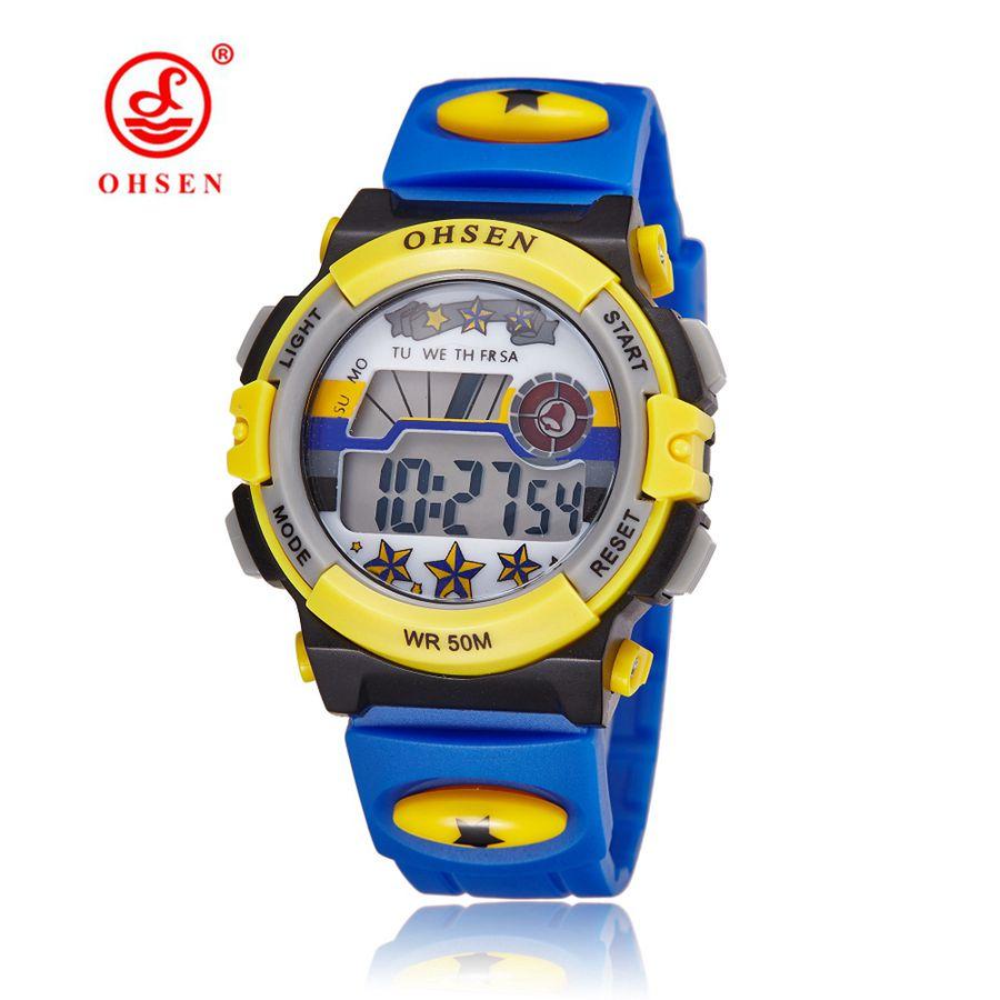 Hot Prodaja OHSEN Brand Dječaci Dječaci Sport Watch Djeca LED Digitalni sat Relogio Moda Vojni Grils Dječaci Elektronski ručni sat