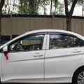 Cubierta auto del coche styling para honda city 2015 2016 2017 unid ventana visor Deflector protección contra la lluvia Sol Fina barra de guardia con brillante ajuste
