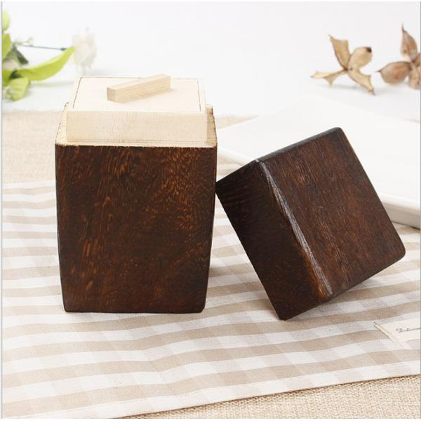 Wooden Tea Box Maccha Storage Box Canister Tea Jar Caddy Storage Organizer