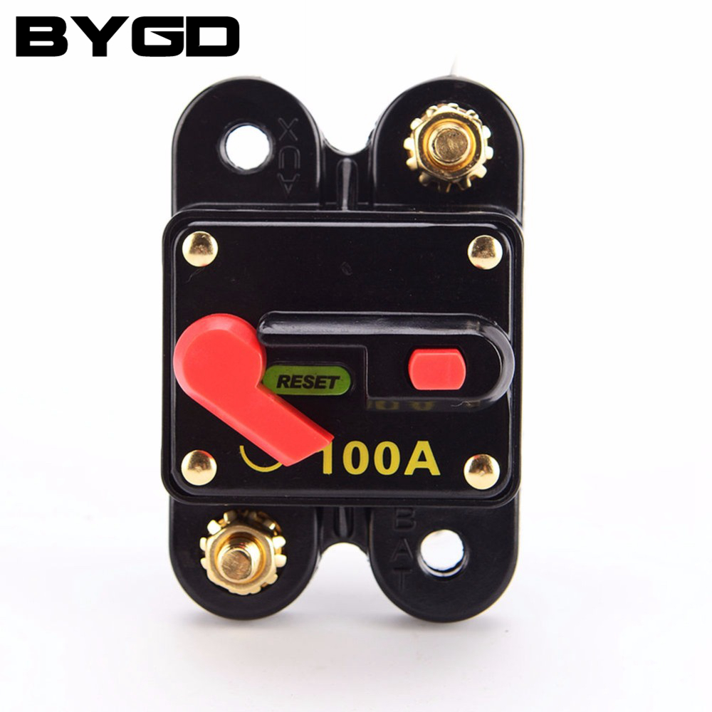 Waterproof Dual Battery Manual Reset Switch Circuit Breaker 12v 24v 100A Car Circuit interrupter breaker Disconnector