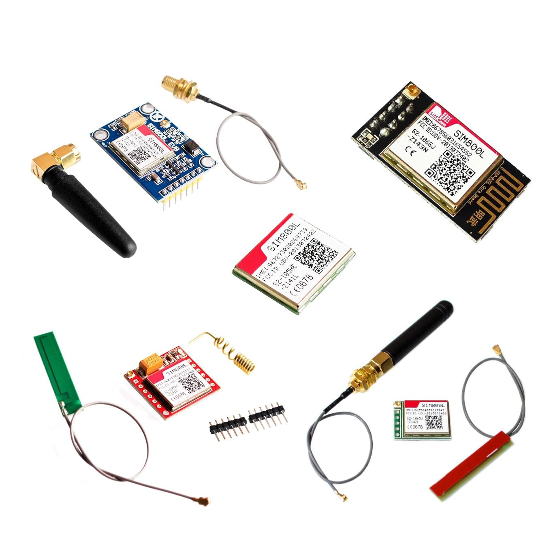 Núcleo da placa quad-band ttl, menor núcleo de placa sim800l gprs gsm kit de cartão módulo micro sim de orifício de entrada com antena para arduino