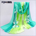 Winter Scarf Adult Cotton Bufandas 2017 New Thin Chiffon Scarf Women Shawl Garden Flowers scarves foulard femme hiver bandana