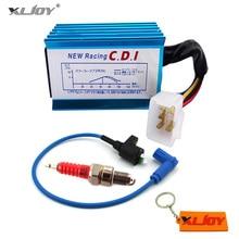 Синяя гоночная катушка зажигания+ 5 Pin AC CDI+ A7TC Свеча зажигания для 50 70 90 110 125 140 150 160 cc ATV Quad Pit Dirt Bike мотоцикл