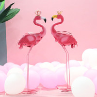 wedding party Decoration Ornament iron flamingo props Decoration garden decorations ornaments window props 1 pair/lot