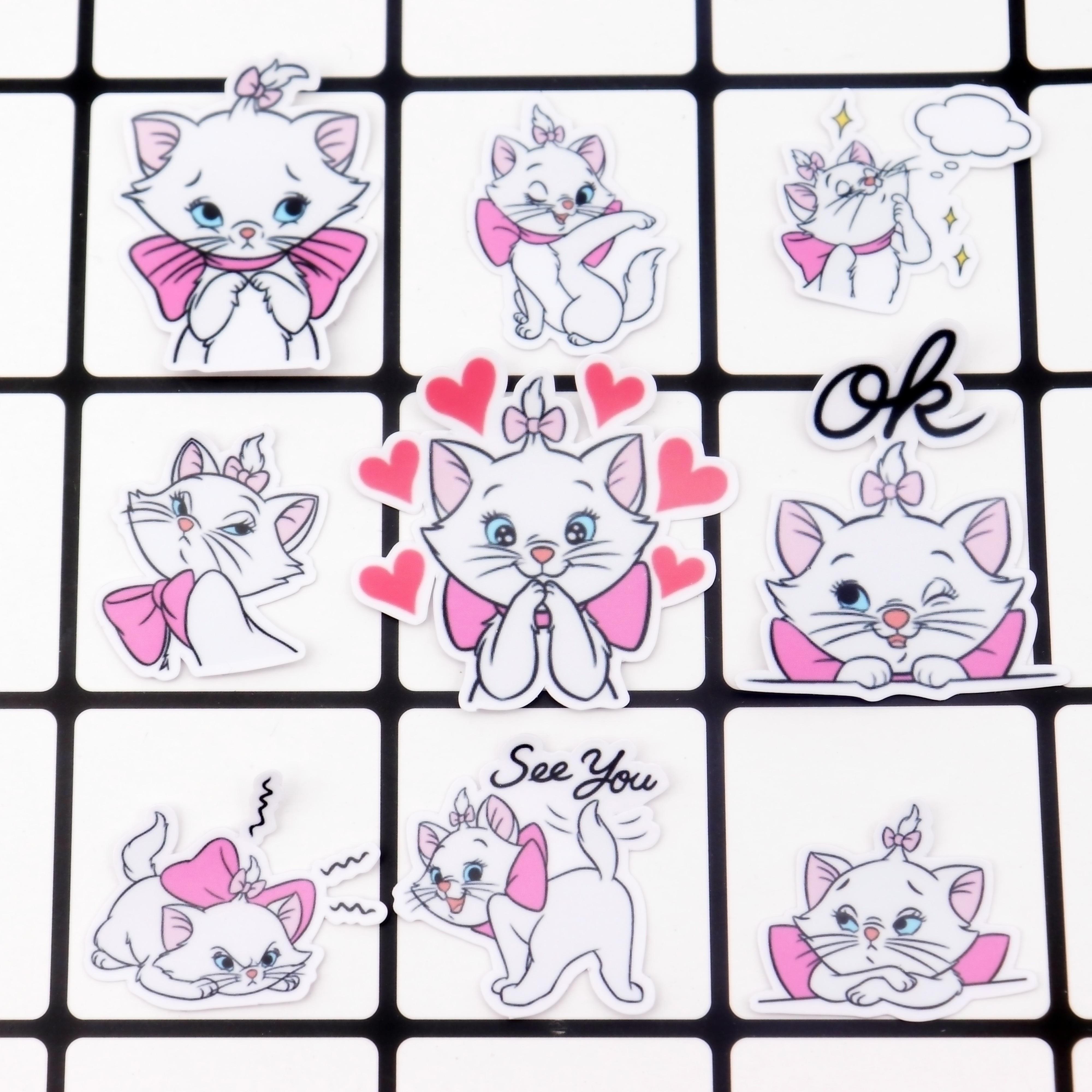 40pcs Creative Kawaii Self-made Mary Cat Stickers/scrapbooking Stickers /decorative /DIY Photo Albums Waterproof/Notebook Diary