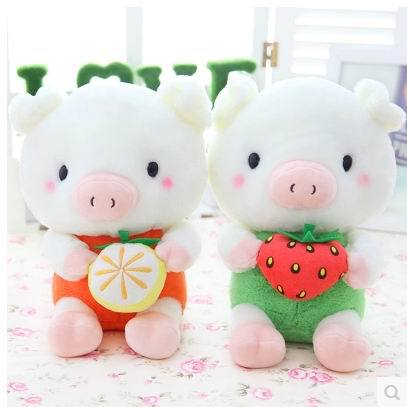 2015 Hot sale 25cm plush toys Cute Fruit Pig tuffed animal doll, Birthday chirsmal gift Drop Shipping hot sale 12cm foreign chavo genuine peluche plush toys character mini humanoid dolls