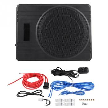 10in 600W Ultra-Thin Under-Seat Car Active Subwoofer Audio Bass Enclosure Speaker Amplifier Ultra New Arrive Accessories subwoofer