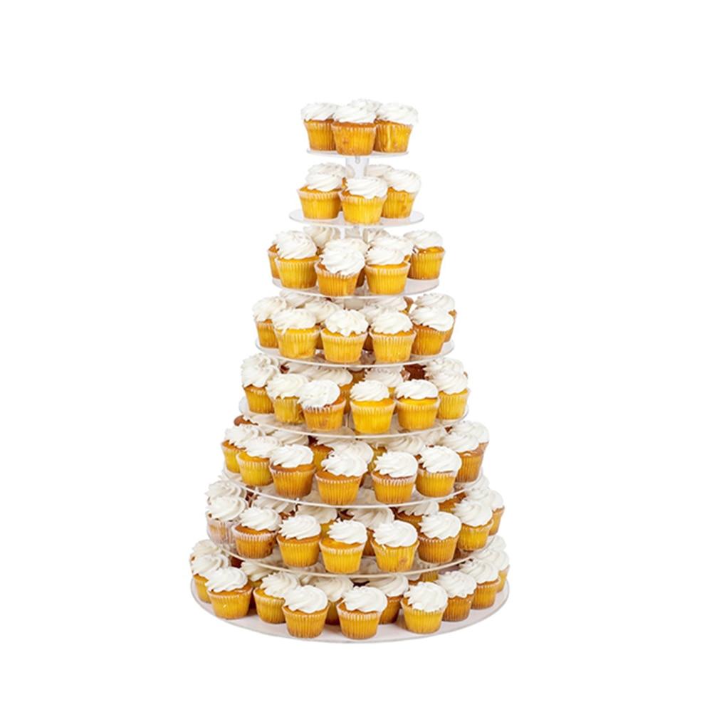 Estrella Soporte 5 niveles claros de acrílico redondo Partido Cupcake Stand