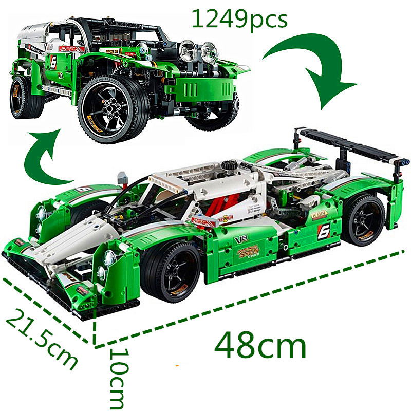 Technic Series The 24 Hours Race Car Building Assembled Blocks Bricks Enlighten Toy Compatible With Wange 42039