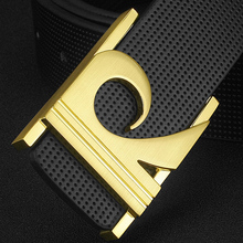 off White Letter R Belt Men High Quality Designer Luxury Brand Genuine Leather Young Fashion Style cintos masculinos