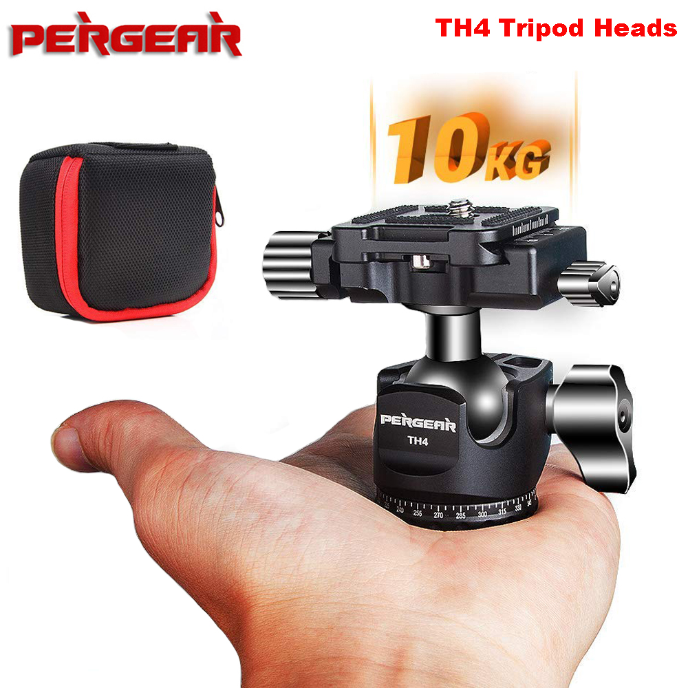 Pergear TH4 Andoer Mini Ball Head Ballhead Tabletop Tripod Stand Adapter w Quick Release Plate for
