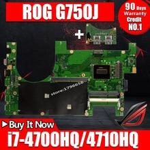 Отправка платы+ 2D материнская плата для ноутбука ASUS G750JM G750JW G750JH G750JX G750J G750 тест оригинальной материнской платы i7-4710HQ I7-4700HQ