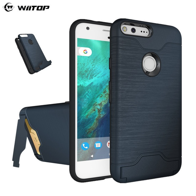 WIITOP For Google Pixel Case Cover With Card Holder Kickstand Hybrid ...
