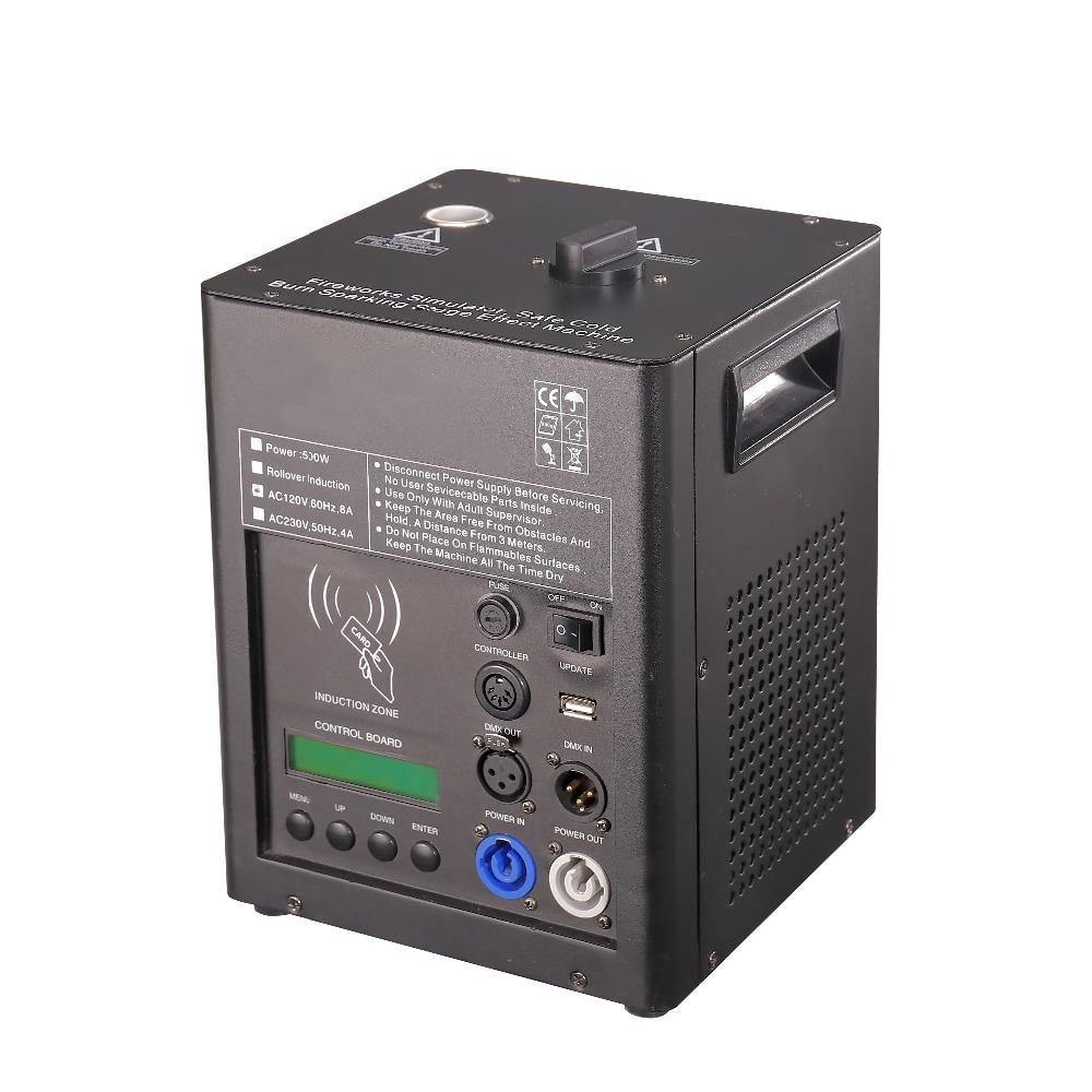 500w électrique sparkler flamme machine sparkler 2m hauteur spéciale coldfireworks DMX 512, contrôle de rotation pour l'étape de mariage