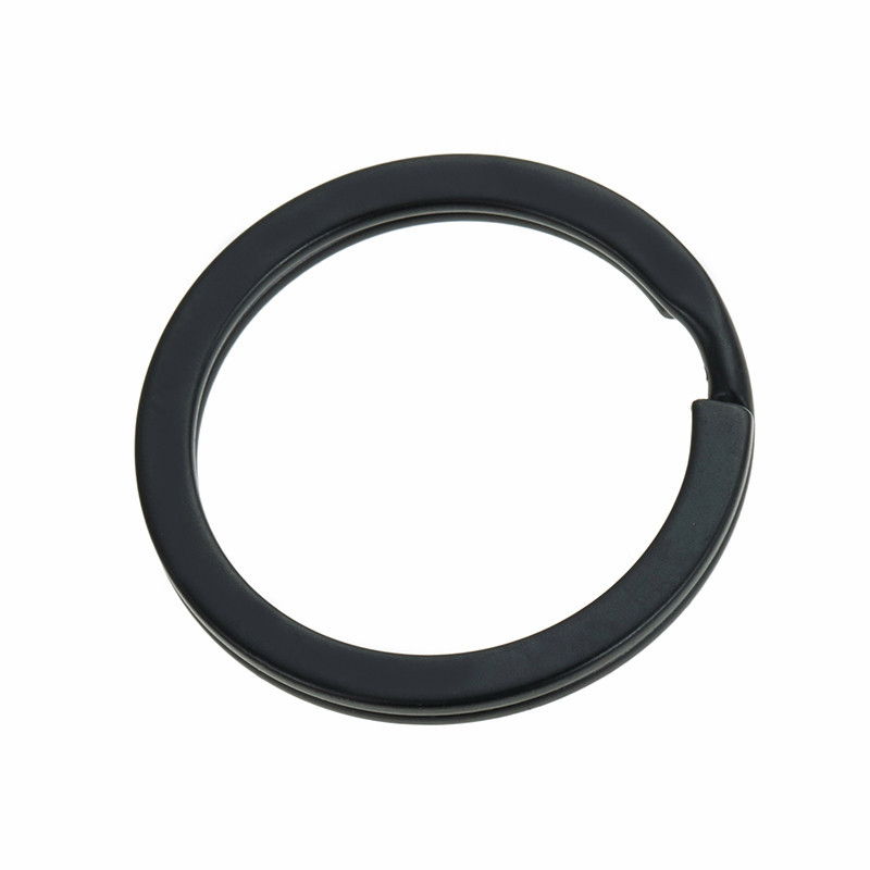 20pcs/lot 25mm 28mm 30mm 32mm Black Keychains Split Ring (Never Fade) Key Rings For Bag Car Keyring Diy Jewelry Making Findings