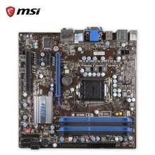 MSI H55M-E33 оригинальный использоваться для настольных ПК H55 разъем LGA 1156 i3 i5 i7 DDR3 микро-ATX на продажу
