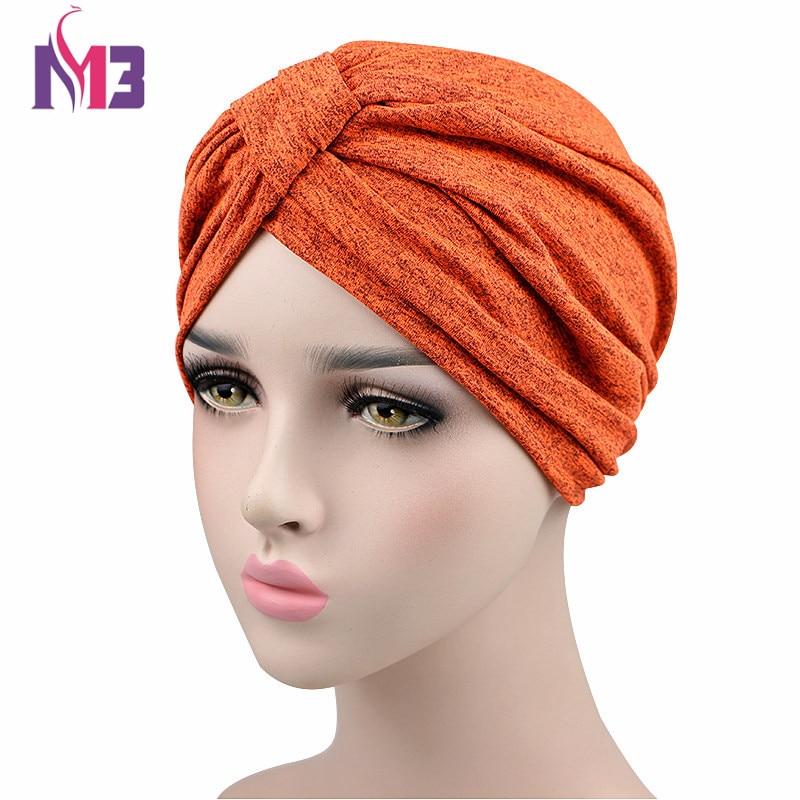 Fashion Women Spandex Turban Super Stretchy Turban Hat Bandanas   Headwear   Sports Headband Hair Accessories Muslim Turbante Hat