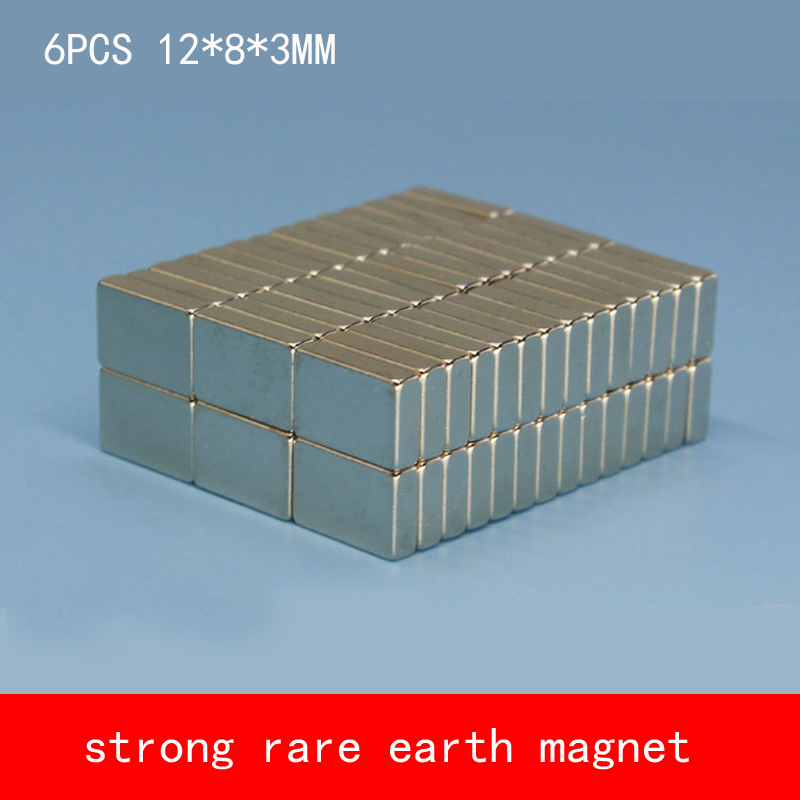 6PCS/lot 12*8*3mm strong rare earth magnet magnets