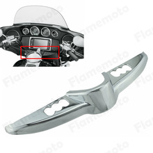Chrome Switch Panel Accent Faring Cap Cover Harley Touring Models Electra Street Tri Glide 2014 2015