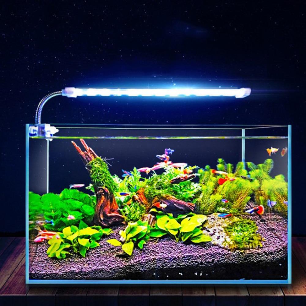 Crystal Lamp Double Row Fish Tank Lamp Water Plant Grow