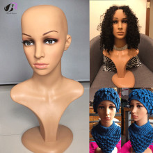 Free Shipping! 50CM High quality PE Realistic female mannequin Manikin dummy head for hat sunglass jewelry wigs display