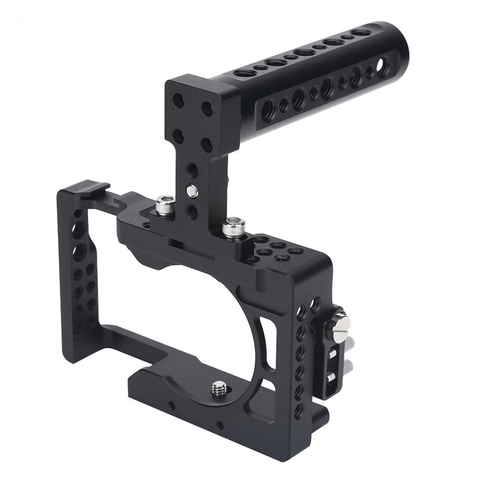 For Sony A6500 Camera Stabilizer Cage DSLR Cage Rig Kit With Top Handle