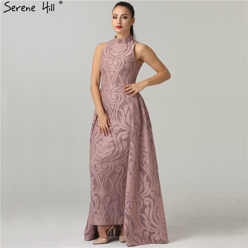 46a7a82e217ac US $86.8 60% OFF|Fashion Mermaid High Collar Formal Evening Dresses Real  Photo Sleeveless Sexy Womens Evening Gowns 2019 Serene Hill QA8004-in  Evening ...