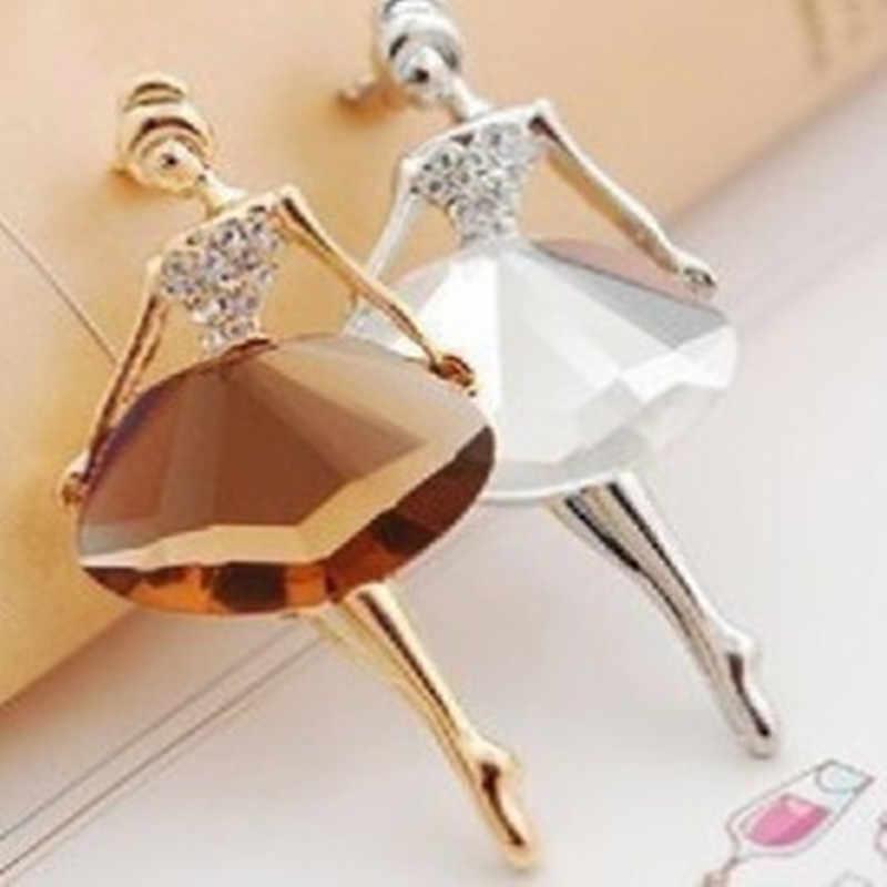 (1 PCS) 2017 baru versi Korea perhiasan grosir ballet gadis fashion temperamen bros Perhiasan Kerah Bros