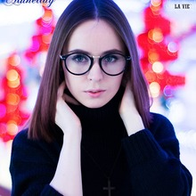 LA VIE Brand 2016 High Quality Metal Print Round Female Grade Glasses Frame Have 6 Color Men Transparent LV8078