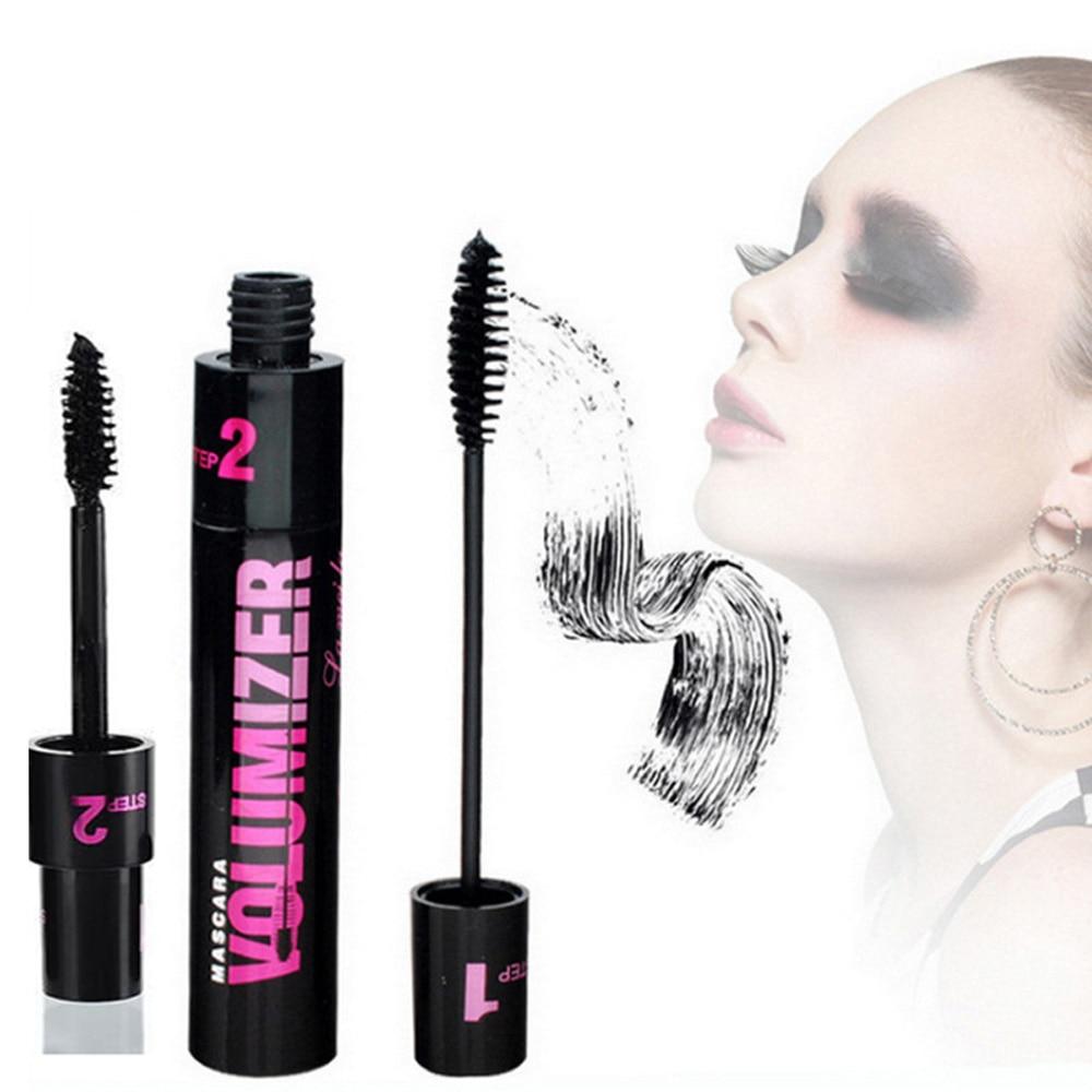 Hot Sale 3d 2 In 1 Waterproof Eyelashes Mascara Cosmetics Black Ink