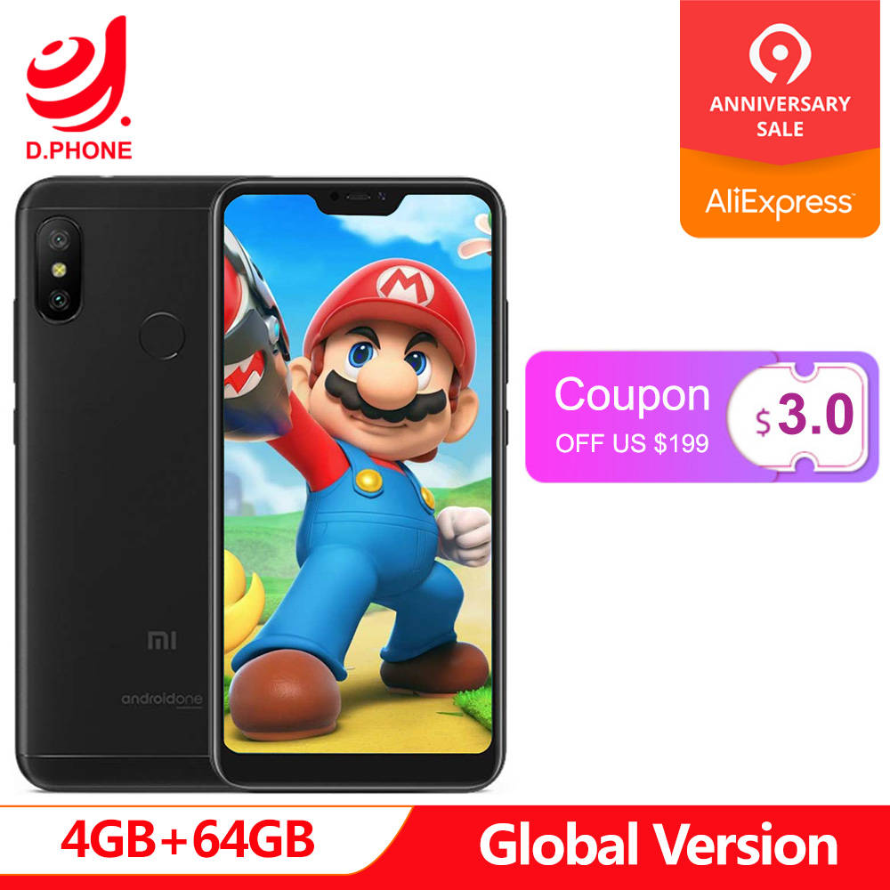 Version mondiale Xiao mi A2 Lite 4 GB 64 GB A 2 5.84