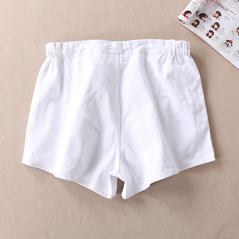 korean fashionWomen Wear Cotton Resistant Canvas Simple Waist Tight Ladies Shorts Summer street style shorts retro sweat pants