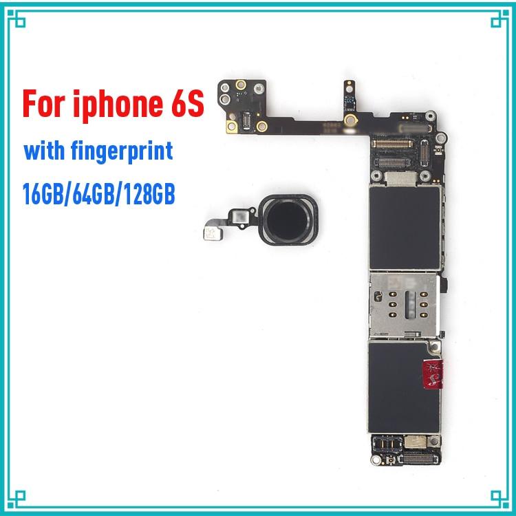 Noir/Blanc/Or pour iphone 6s 6 s Carte Mère avec Tactile ID, débloqué Original pour iphone 6s Carte Logique + Puces, Bon travail