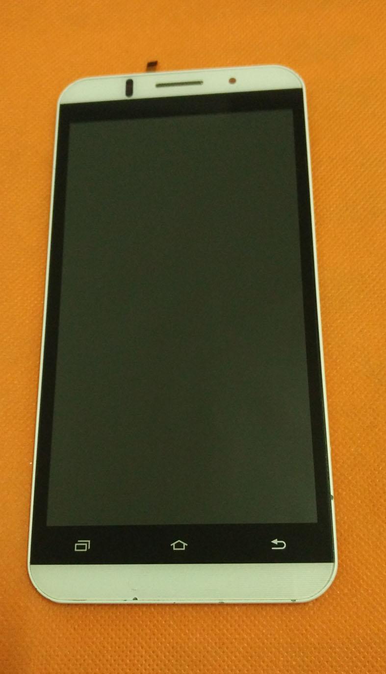 Prix pour Utilisé LCD D'origine Display + Digitizer Écran Tactile + Cadre pour Vkworld VK700 MTK6582 Quad Core 5.5 Pouce HD 1280x720 Livraison gratuite