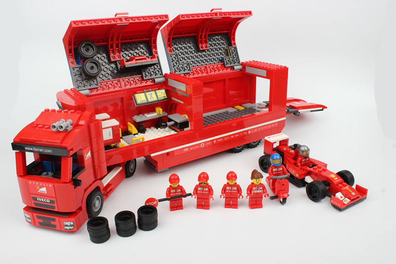 21010 Super Race Formula F1 Racing Container Truck 75913 Model Building Kits Block Bricks Toys Compatible With Legoings