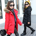 Solid Infants Girls Parkas Coat Winter Kids Outerwear Vestidos Children Down Jackets Costumes Thick Fur Hooded Students Clothing