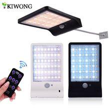 Actualizado 48 LED de Color de luz Solar ajustable con controlador tres modos de luces de lámpara impermeables para exteriores Jardín pared calle