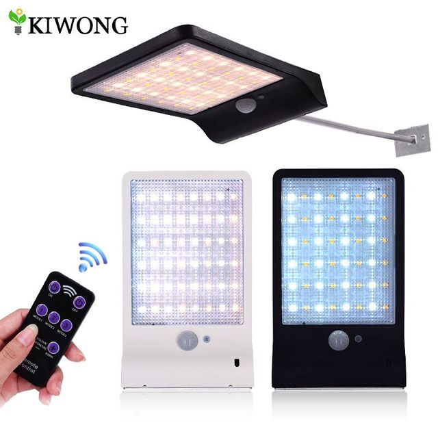 Upgraded 48 Leds Solar Light Color Adjule With Controller Three Modes Waterproof Lamp Lights For Outdoor Garden Wall Street