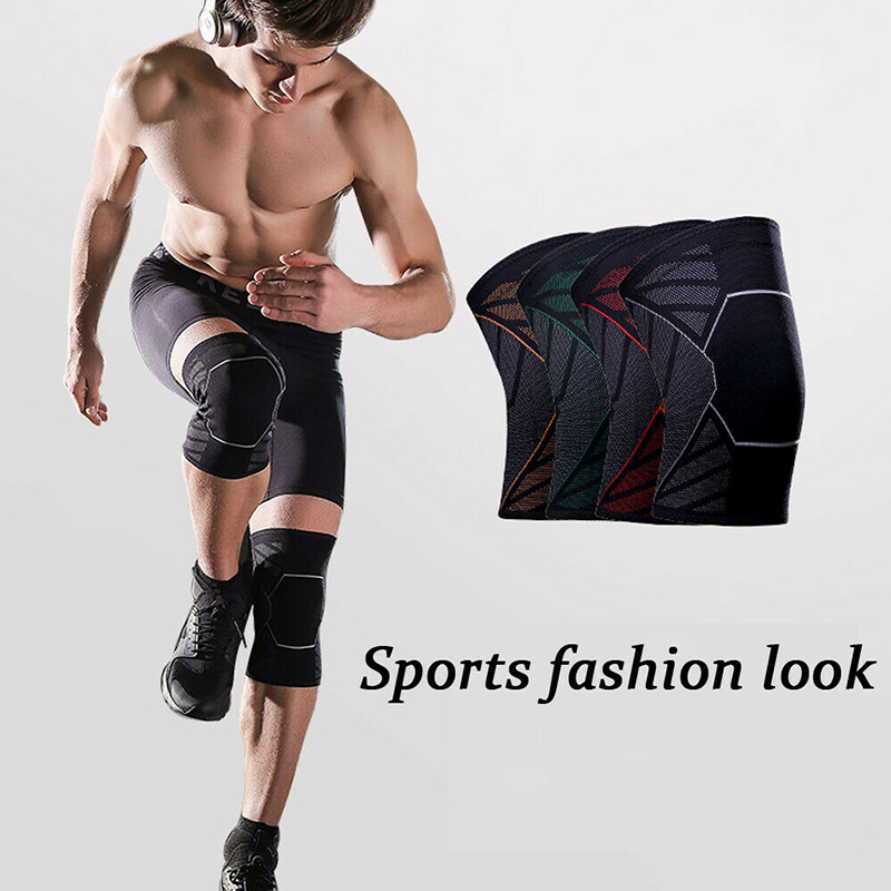 1pc Adjustable Knee Sleeve Men Women Patella Support Brace Wrap Cap Stabilizer Sports Black Exercise Basekeball New