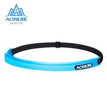 AONIJIE Silicone Sweatband Unisex Overgrip Sport Adjustable Headband Anti-Slip Hairbands Running Fitness Gym Tennis Elastic Belt