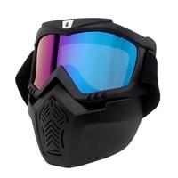 2018New Ski Skate Motocross Goggles Motorcycle Goggle Helmet Glasses Windproof Off Road Moto Cross Helmets Mask