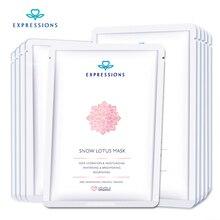 10Pcs Lot Snow Lotus Facial Mask Korean Cosmetics Skin Care Treatment Mask Remove Blackhead Acid Whitening
