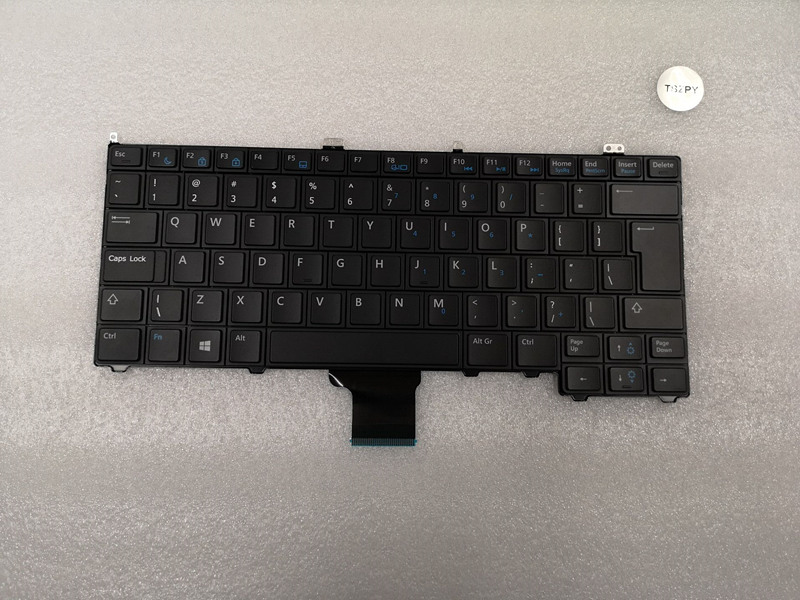 NEW US Laptop keyboard for FOR Dell Latitude 12 7000 E7240 E7440 US No Point