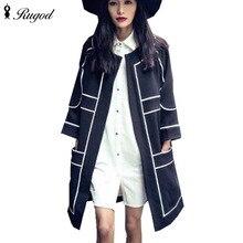 Autumn Winter Trench Coat For Womens 2016 Long Outerwear Loose Female Coats Windbreaker Fashion Long Sleeve Women Coat Tops