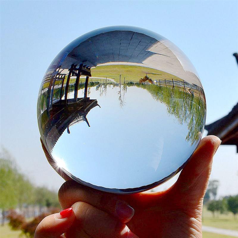 50mm Round Rare Natural Magic Healing Crystal Ball Sphere Quartz Balls Feng Shui Ball Globe Powerful Home Decoration
