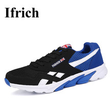 Ifrich 2017 Spring/Summer time Working Sneakers Males Sneakers Breathable Strolling Sneakers Black Pink Sport Trainers Low cost Athletic Sneaker